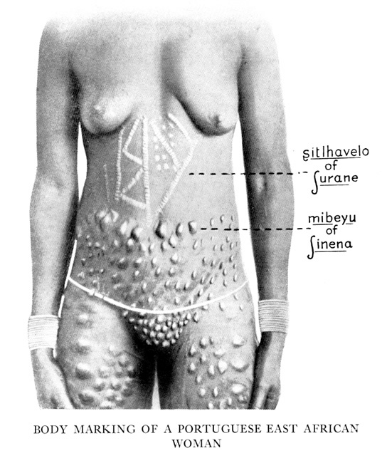 """tattoos. Source: E. Dora Earthy, """"On the Significance of the Body Markings"""