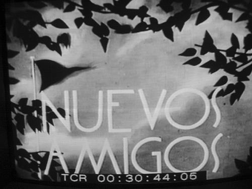 Nuevos Amigos . Title image from Nuevos Amigos, Soviet-made newsreel ...